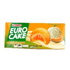 ยูโร่ พัฟเค้กสอดไส้ครีมเมล่อน 24 กรัม (แพ็ค 6)