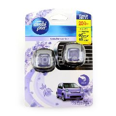 Ambi Pur Car Freshener Mini Clip Lavender Comfort (2 Pieces)