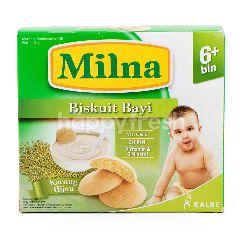 Milna Biskuit Rasa Kacang Hijau untuk Bayi dan Anak Usia 6-24 Bulan