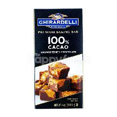 Ghirardelli Cokelat Bar 100% Kakao Premium