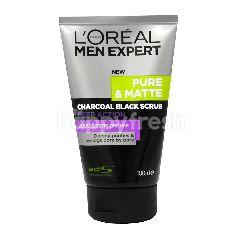 L'Oreal Paris L'Oreal Men Expert Pure & Matte Charcoal Black Deep Action Face Scrub