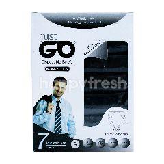 Just Go Celana Dalam Pria Sekali Pakai Warna Hitam S
