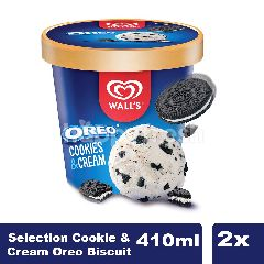Wall's Es Krim Selection Cookie&Cream Oreo Twinpack