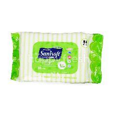 แซนนิซอฟท์ เบบี้ ไวพส์ พร้อมสารสกัดธรรมชาติจากชาเขียว (80 แผ่น)