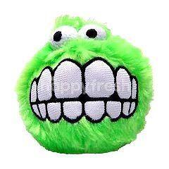 Rogz Fluff Grinz Plush Toy Ball (Lime) (Large)