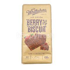 Whittaker's Cokelat Susu 33% Kakao dengan Beri & Biskuit