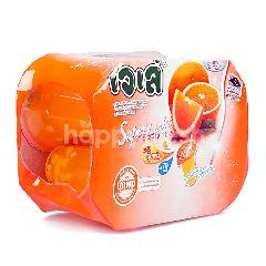เจเล่ ซูเปอร์ ไลท์ รสส้ม 125 กรัม (แพ็ค 6)