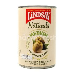 Lindsay Naturals Medium California Green Ripe Pitted Olives