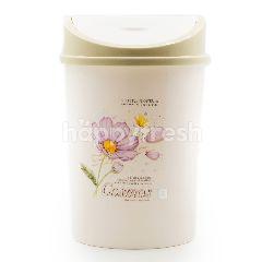 Little Flower Cosmos Push Waste Basket