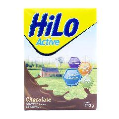 HiLo Active Susu Bubuk Tinggi Kalsium Kurang Lemak Rasa Cokelat