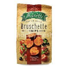 MARETTI Cips Bruschette Italian Style Rasa Tomat, Zaitun & Oregano
