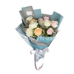 Heartis Bouquet Of Mixed Flowers In Pastel