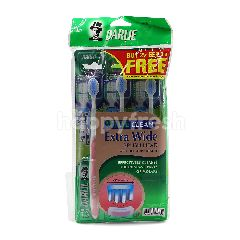 """Darlie Wide Clean Extra Wide Brush Head With """"Hill Shape"""" Bristles (Buy 2 Free 1)"""