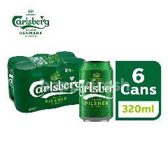 Carlsberg Danish Pilsner Beer Can (320ml x 6)
