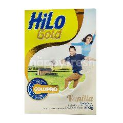 HiLo Gold Susu Bubuk Tinggi Kalsium Kurang Lemak Rasa Vanila 51 Tahun