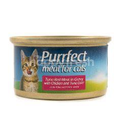 Purrfect Makanan Kucing dengan Ayam Hati Tuna