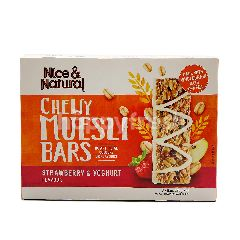 Nice & Natural Strawberry & Yoghurt Flavour Chewy Muesli Bars (6 Pieces)