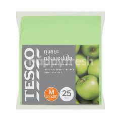 "Tesco Apple Scented Garbage Bag Medium 24"" x 28"" Inch 25pcs"