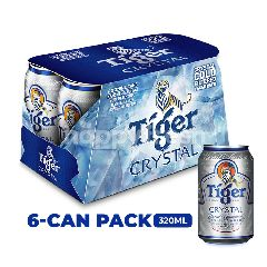 Tiger Crystal Lager Beer Cans 6x320ml