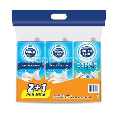 Dutch Lady Value Pack 2+1 Milk (3pcs)