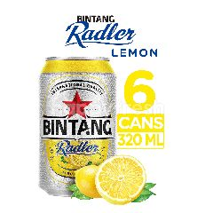 Bintang Radler Bir & Lemon (6 x 320ml)