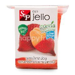 เอส แอนด์ พี เจลิโอ เยลลี่คาราจีแนน ผสมเนื้อสละน้ำสละ สูตรน้ำตาลน้อย 85 กรัม