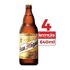 San Miguel Bir Pilsener Pale 640ml (Botol) 4-Pack