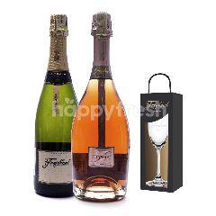 Freixenet Elyssia Pinot Noir  Vintage Reserva Get Riedel Flute Glass Free