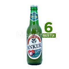 Anker Lychee (Botol) Beer 330ml 6-Pack