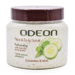 Odeon Papaya & Cucumber Face & Body Scrub