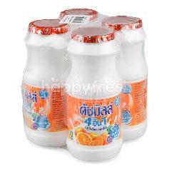 ดัชมิลล์ 4 อิน 1 นมเปรี้ยว รสส้ม 160 มล (แพ็ค 4)