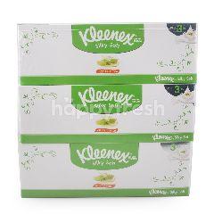 คลีเน็กซ์ กระดาษเช็ดหน้าสีขาว Aloe & E Lotion 80 แผ่น (3 กล่อง)