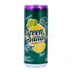 Green Sands Minuman Berkarbonasi Rasa Lemon dan Anggur