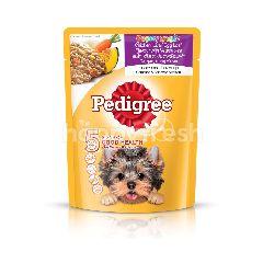 Pedigree Pouch Dog Food Puppy Chicken Liver & Egg Loaf with Vegetable 80g Dog Wet Food