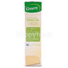 Green's Tepung Keik Lemon Termasuk Tepung Icing Tanpa Pewarna dan Perisa Buatan