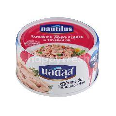 นอติลุส ทูน่าแซนวิชในน้ำมันถั่วเหลือง 170 กรัม