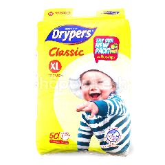Drypers Classic Diapers XL50