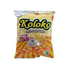 Koloko Pea Crackers Sour Cream Flavoured