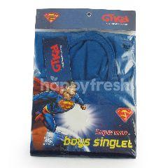 GT Man Kids Singlet Edisi Superman XL Merah