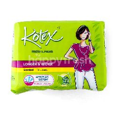 Kotex Liner Segar Panjang & Lebar Aroma Ekstrak Daun Sirih (16 buah)