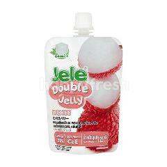 เจเล่ ดับเบิ้ล เยลลี่ ผสมวุ้นมะพร้าวและน้ำองุ่นขาว กลิ่นลิ้นจี่ 125 กรัม