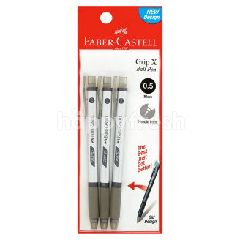 FABER CASTELL 0.5 Black Ball Pen (3 Pieces)