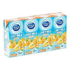 Dutch Lady Juicy Milk Orange 4 x 200ml