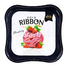 Gold Ribbon Es Krim Stroberi