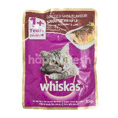 Whiskas Makanan Kucing Rasa Ikan Saba Panggang