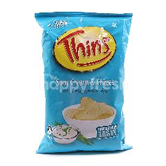 Thins Sour Cream & Chives Flavoured Thin & Crispy Potato Chips