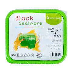 Technoplast Block Kotak Makanan Bebas BPA Hijau