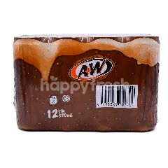 A&W Sparkling Flavoured Soft Drinks (12 Cans)
