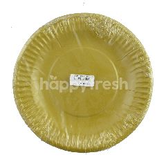ceria Piring Kertas Plastik Laminating Emas 19cm