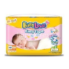 เบบี้เลิฟ ผ้าอ้อมเด็ก ชนิดเทป สำหรับเด็กแรกเกิด (แพ็ค 88)
